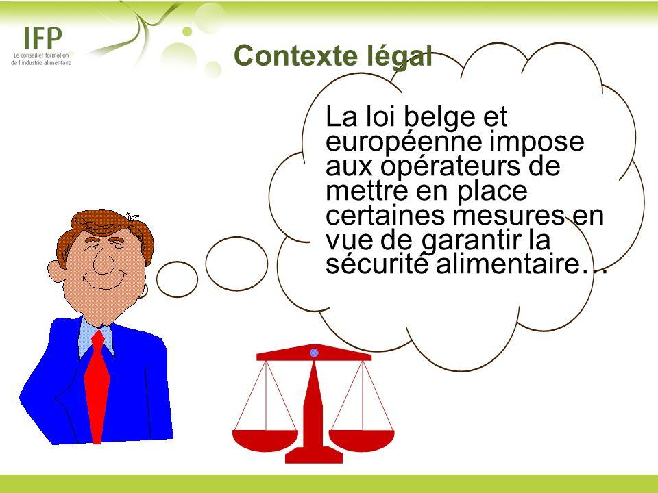 La loi belge et européenne impose aux opérateurs de mettre en place certaines mesures en vue de garantir la sécurité alimentaire… Contexte légal