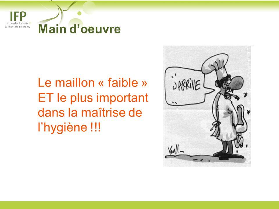 Le maillon « faible » ET le plus important dans la maîtrise de lhygiène !!! Main doeuvre