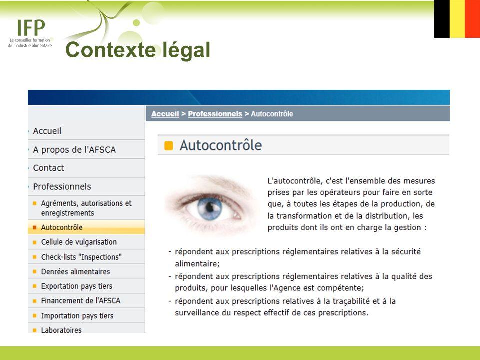 Contexte légal