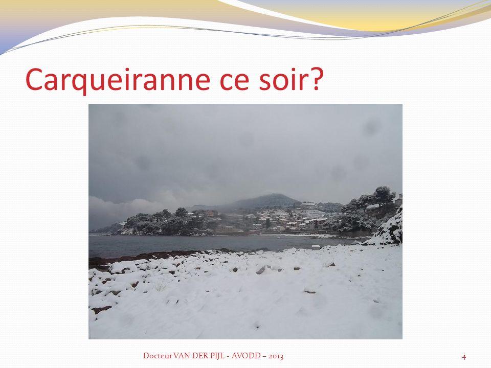 Notre site internet www.avodd.fr Docteur VAN DER PIJL - AVODD – 20135
