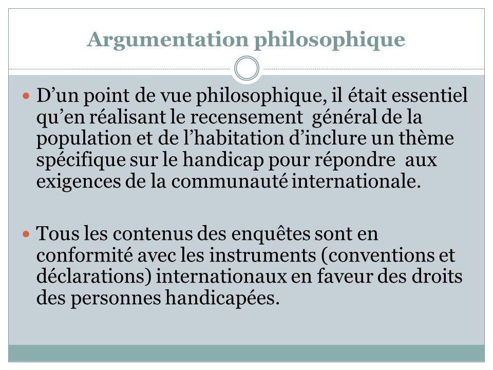 Argumentation philosophique Dun point de vue philosophique, il était essentiel quen réalisant le recensement général de la population et de lhabitatio