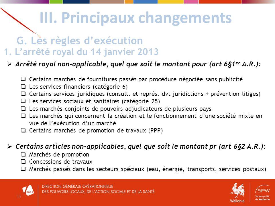 Arrêté royal non-applicable, quel que soit le montant pour (art 6§1 er A.R.): Certains marchés de fournitures passés par procédure négociée sans publi