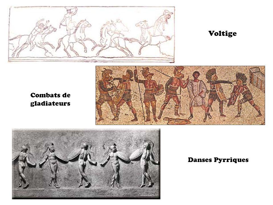 Voltige Combats de gladiateurs Danses Pyrriques