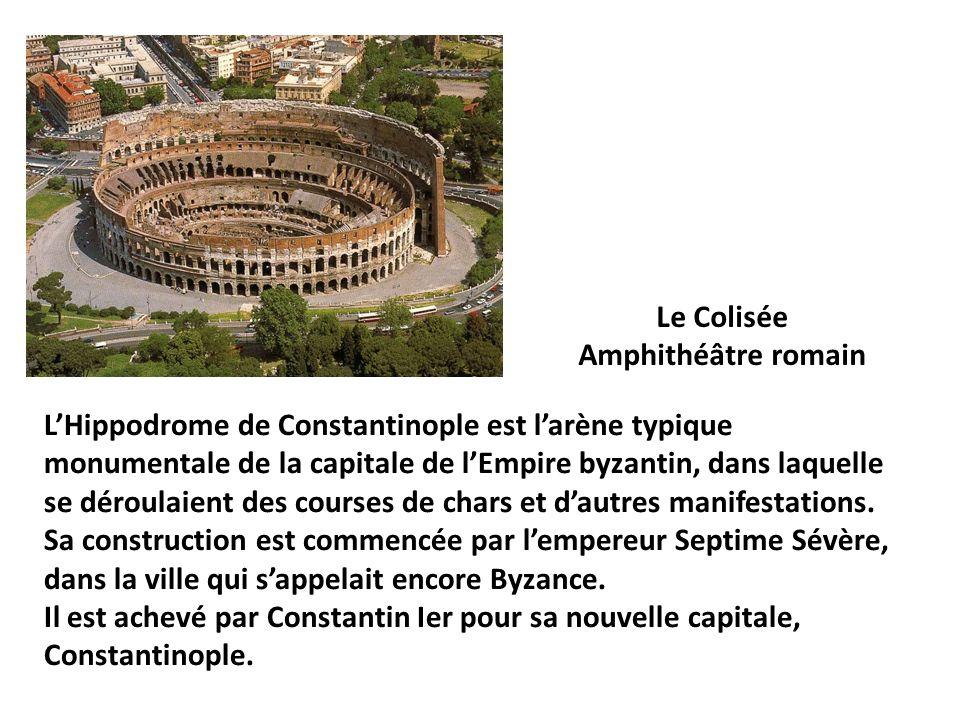 LHippodrome de Constantinople est larène typique monumentale de la capitale de lEmpire byzantin, dans laquelle se déroulaient des courses de chars et dautres manifestations.