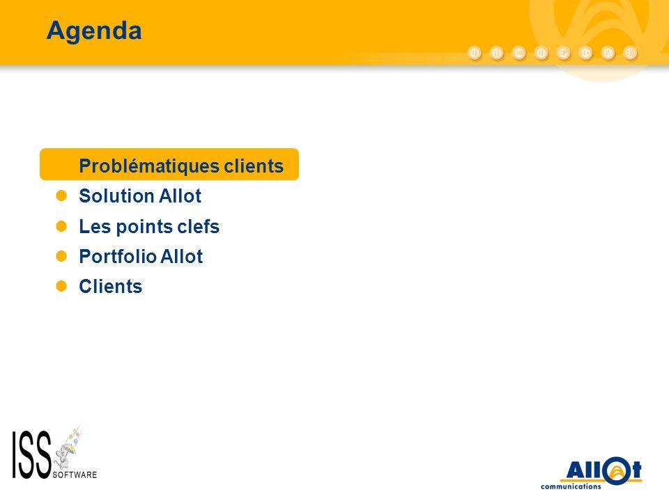 Agenda Problématiques clients Solution Allot Les points clefs Portfolio Allot Clients