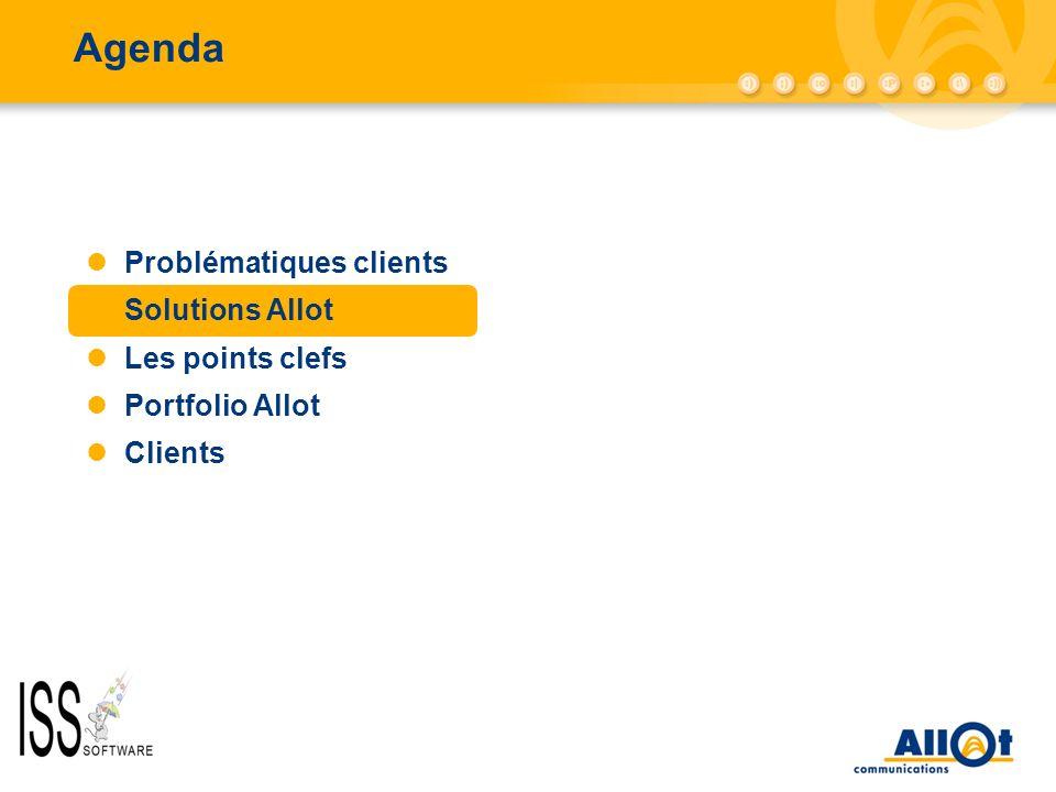 Agenda Problématiques clients Solutions Allot Les points clefs Portfolio Allot Clients
