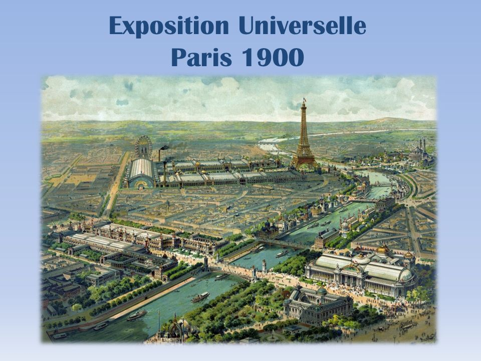 L exposition universelle de 1900 a été la cinquième exposition universelle organisée à Paris après celle de 1855, celle de 1867, celle de 1878 et celle de 1889.