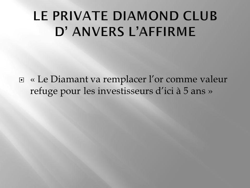 « Le Diamant va remplacer lor comme valeur refuge pour les investisseurs dici à 5 ans »
