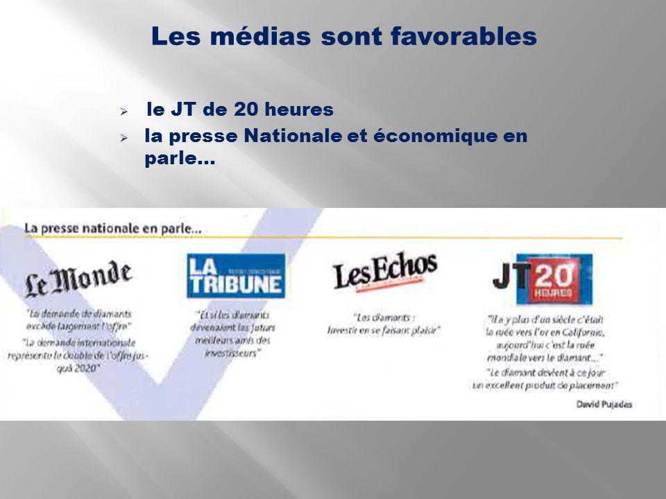 Les médias sont favorables le JT de 20 heures la presse Nationale et économique en parle…
