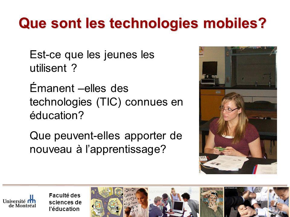 Que sont les technologies mobiles.