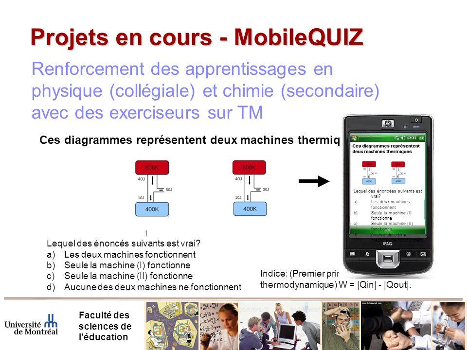 Projets en cours - MobileQUIZ Faculté des sciences de léducation Lequel des énoncés suivants est vrai.