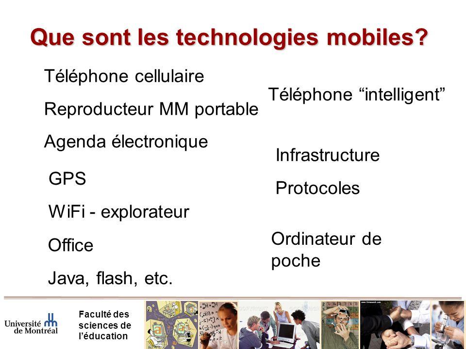 Exemples Faculté des sciences de léducation Livre électronique – notes MM Communication – sms, voix Recherche dinformation Saisie de données Soutien – MCSCL (débuts)