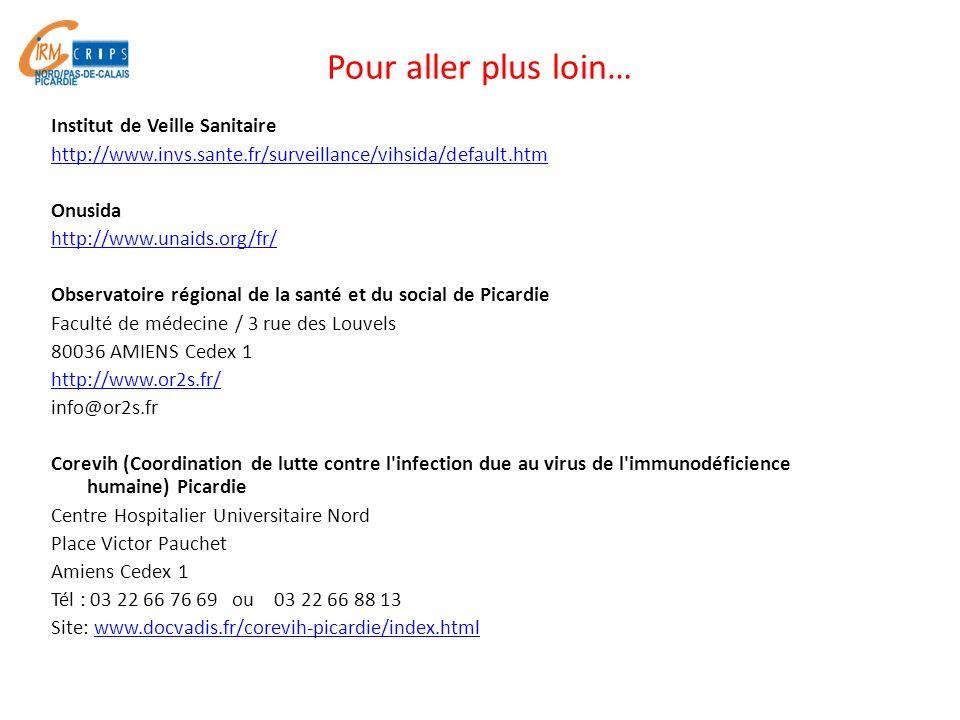 Pour aller plus loin… Institut de Veille Sanitaire http://www.invs.sante.fr/surveillance/vihsida/default.htm Onusida http://www.unaids.org/fr/ Observa