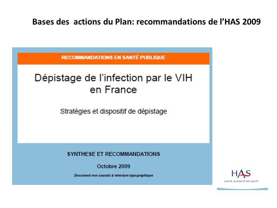 Bases des actions du Plan: recommandations de lHAS 2009