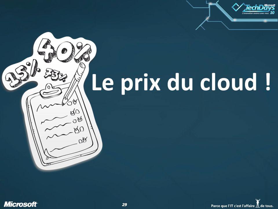 29 Le prix du cloud !