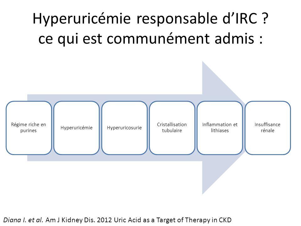 Hyperuricémie responsable dIRC .