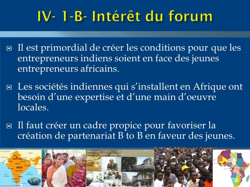 Il est primordial de créer les conditions pour que les entrepreneurs indiens soient en face des jeunes entrepreneurs africains.