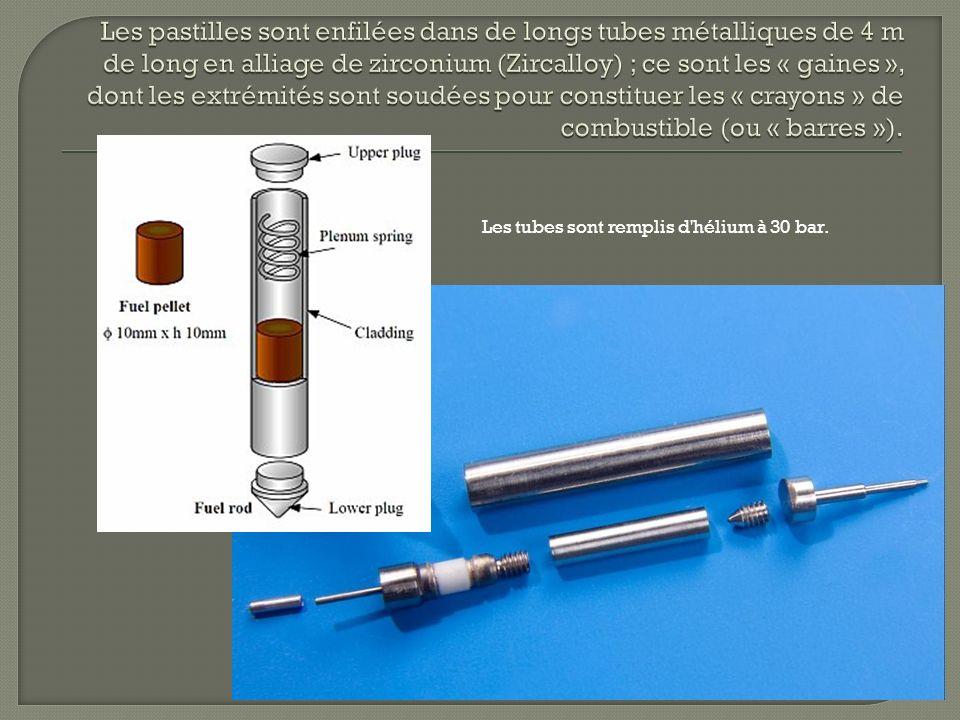 Les tubes sont remplis d hélium à 30 bar.