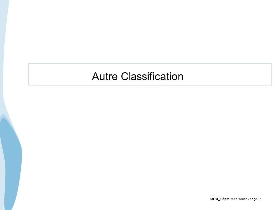 CHU _Hôpitaux de Rouen - page 37 Autre Classification