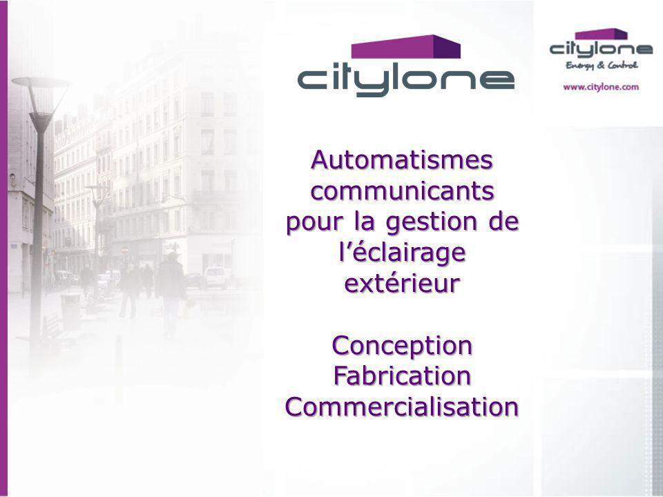 Automatismes communicants pour la gestion de léclairage extérieur Conception Fabrication Commercialisation