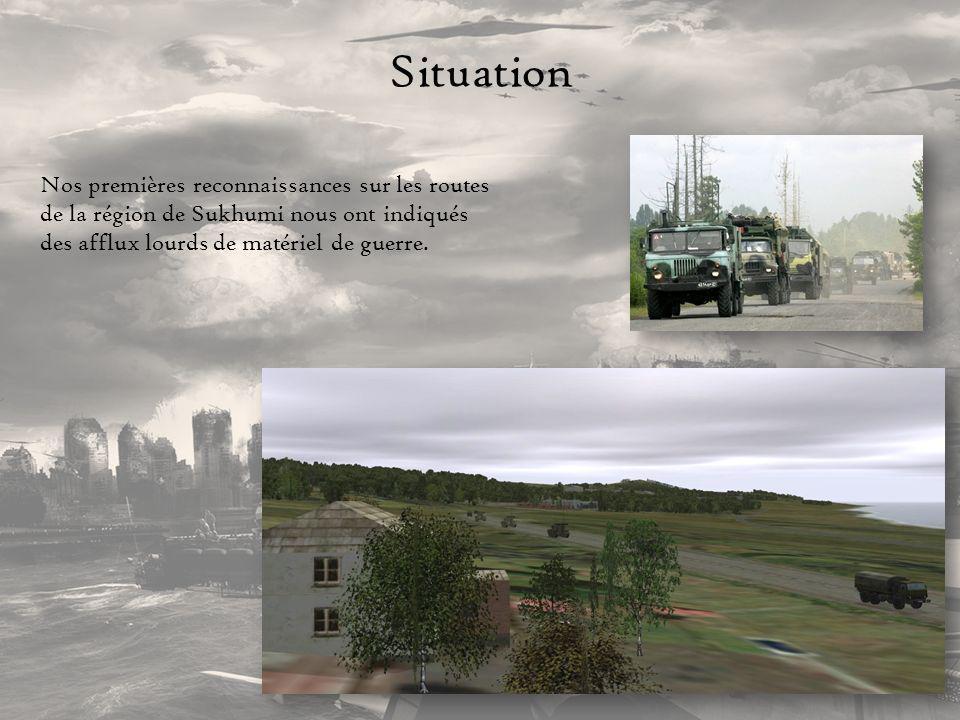 Mission La 1 ère étape de loffensive est une reconnaissance afin destimer la position, la quantité et le type de matériel Géorgien.
