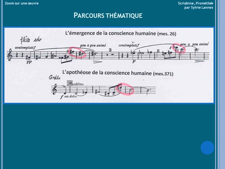 Zoom sur une œuvre Scriabine, Prométhée par Sylvie Lannes P ARCOURS THÉMATIQUE