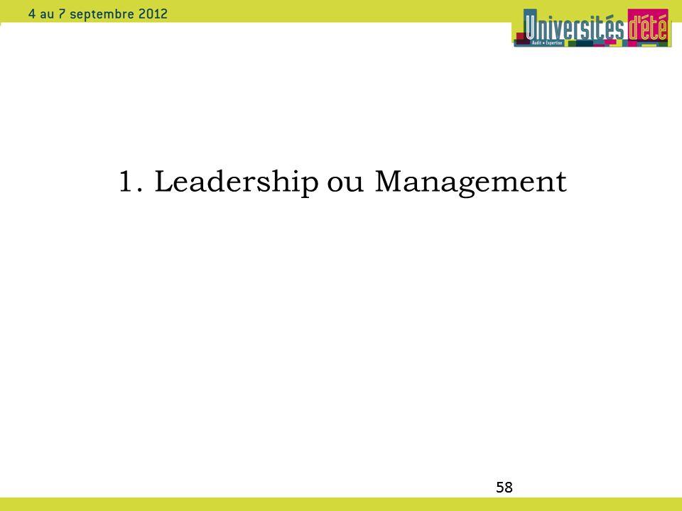 58 1. Leadership ou Management 58