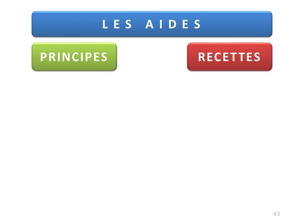 42 L E S A I D E S PRINCIPES RECETTES