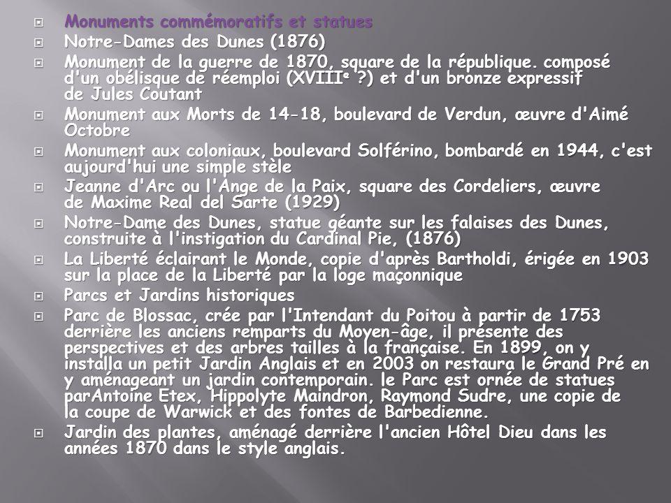 Monuments commémoratifs et statues Monuments commémoratifs et statues Notre-Dames des Dunes (1876) Notre-Dames des Dunes (1876) Monument de la guerre