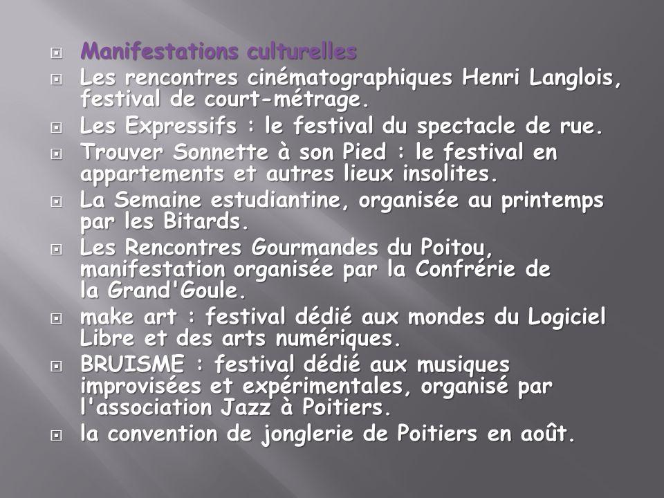 Manifestations culturelles Manifestations culturelles Les rencontres cinématographiques Henri Langlois, festival de court-métrage. Les rencontres ciné
