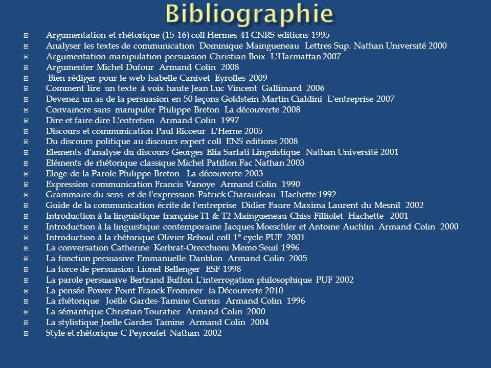 Argumentation et rhétorique (15-16) coll Hermes 41 CNRS editions 1995 Analyser les textes de communication Dominique Maingueneau Lettres Sup. Nathan U