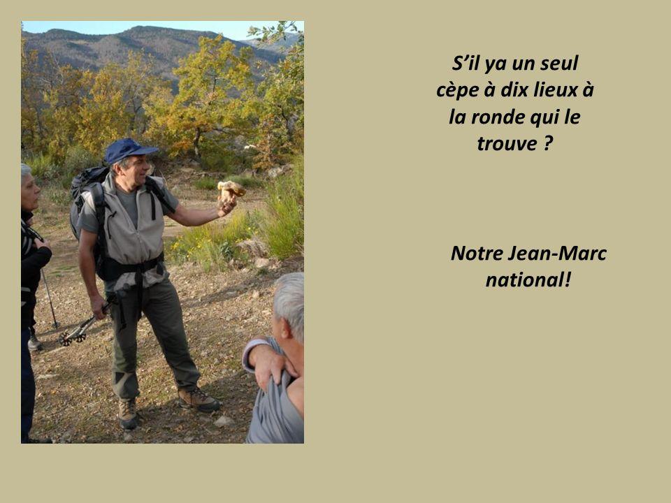 Sil ya un seul cèpe à dix lieux à la ronde qui le trouve Notre Jean-Marc national!