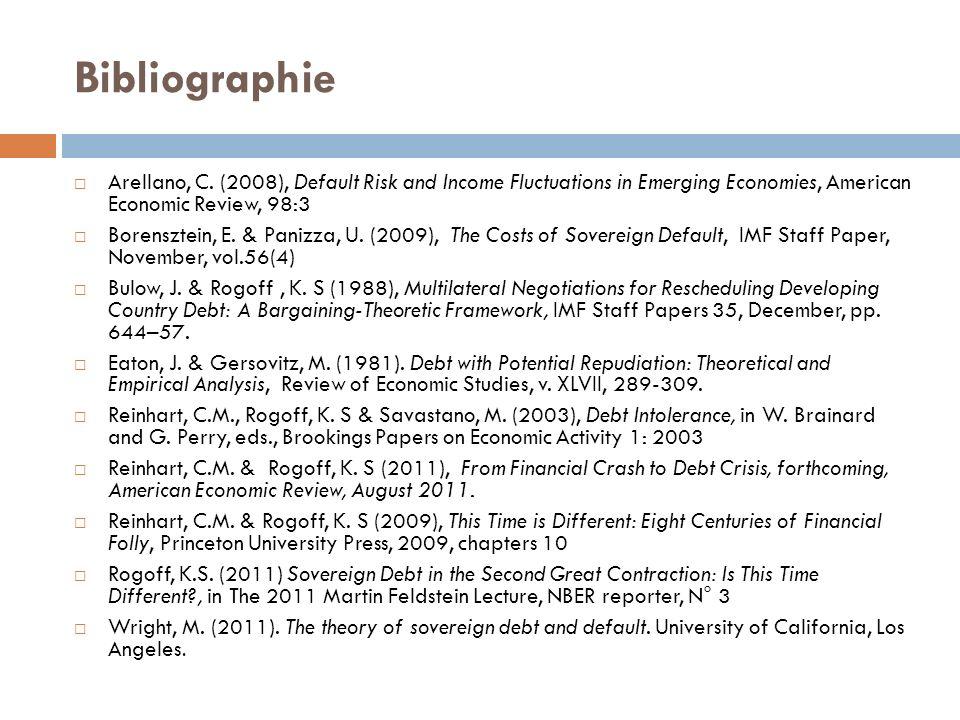Bibliographie Arellano, C.
