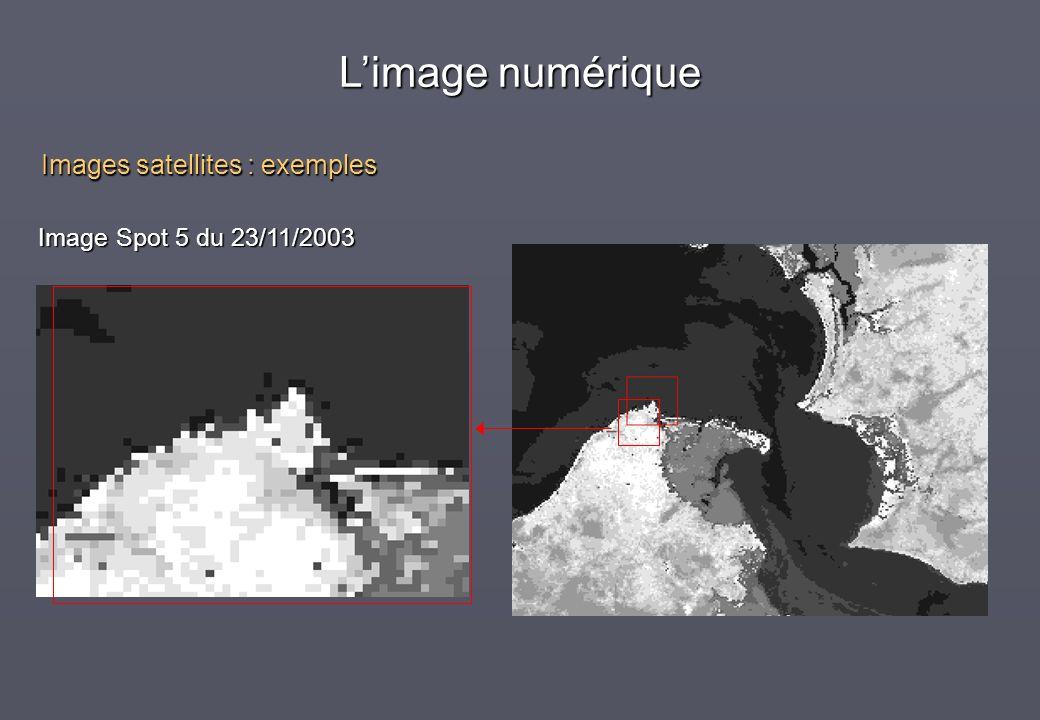 Image Spot 5 du 23/11/2003 Images satellites : exemples Limage numérique
