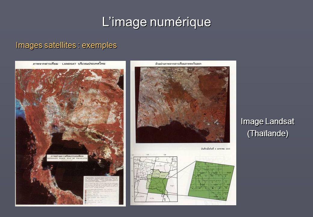 Image Landsat (Thaïlande) Images satellites : exemples Limage numérique