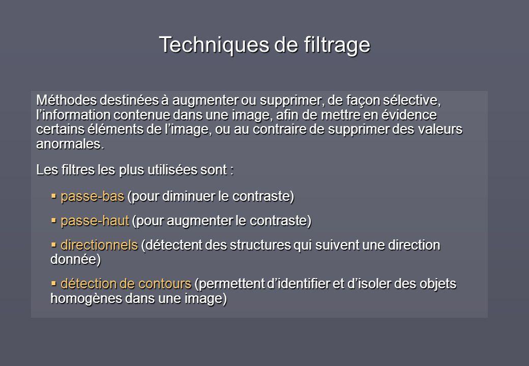 Méthodes destinées à augmenter ou supprimer, de façon sélective, linformation contenue dans une image, afin de mettre en évidence certains éléments de