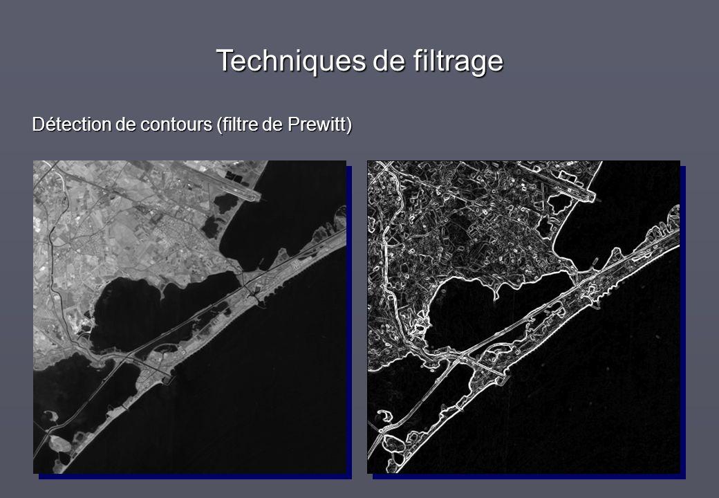 Techniques de filtrage Détection de contours (filtre de Prewitt)