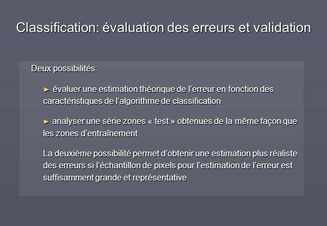 Deux possibilités: évaluer une estimation théorique de lerreur en fonction des caractéristiques de lalgorithme de classification évaluer une estimatio