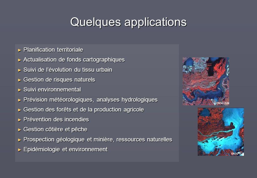 Planification territoriale Planification territoriale Actualisation de fonds cartographiques Actualisation de fonds cartographiques Suivi de lévolutio