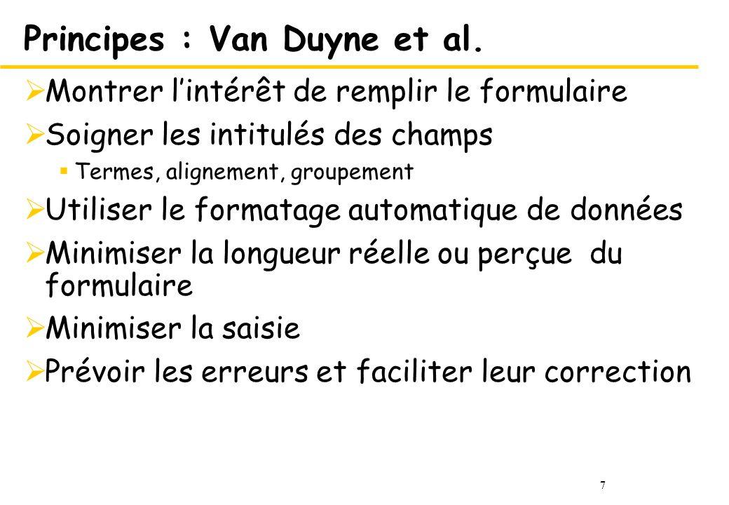 7 Principes : Van Duyne et al.