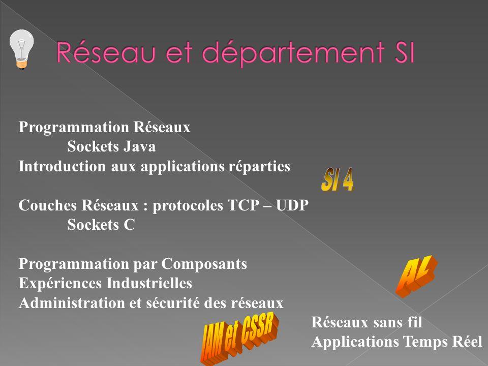 Programmation Réseaux Sockets Java Introduction aux applications réparties Couches Réseaux : protocoles TCP – UDP Sockets C Programmation par Composan