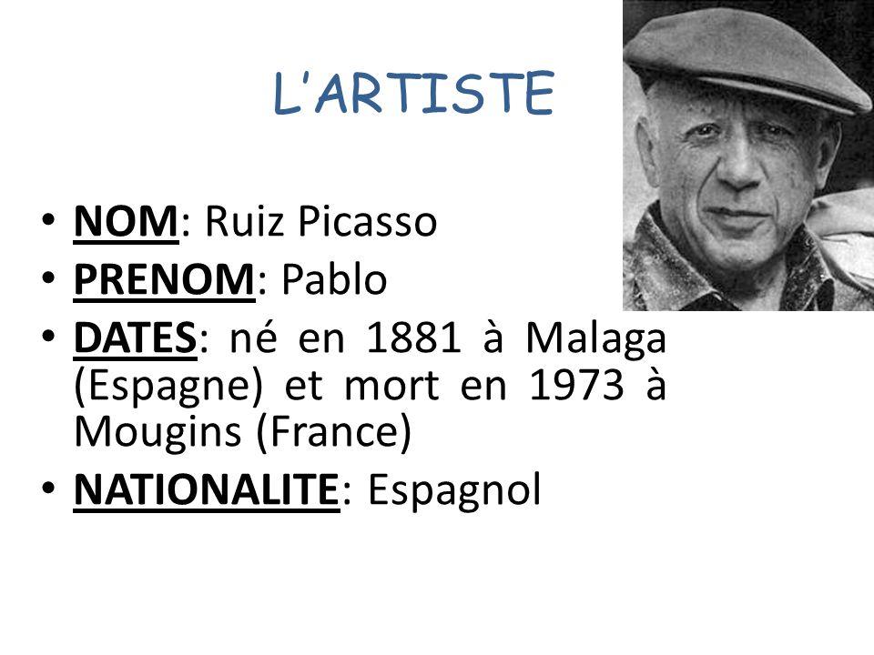 BIOGRAPHIE: Peintre, dessinateur et sculpteur.Pablo Picasso passa lessentiel de sa vie en France.