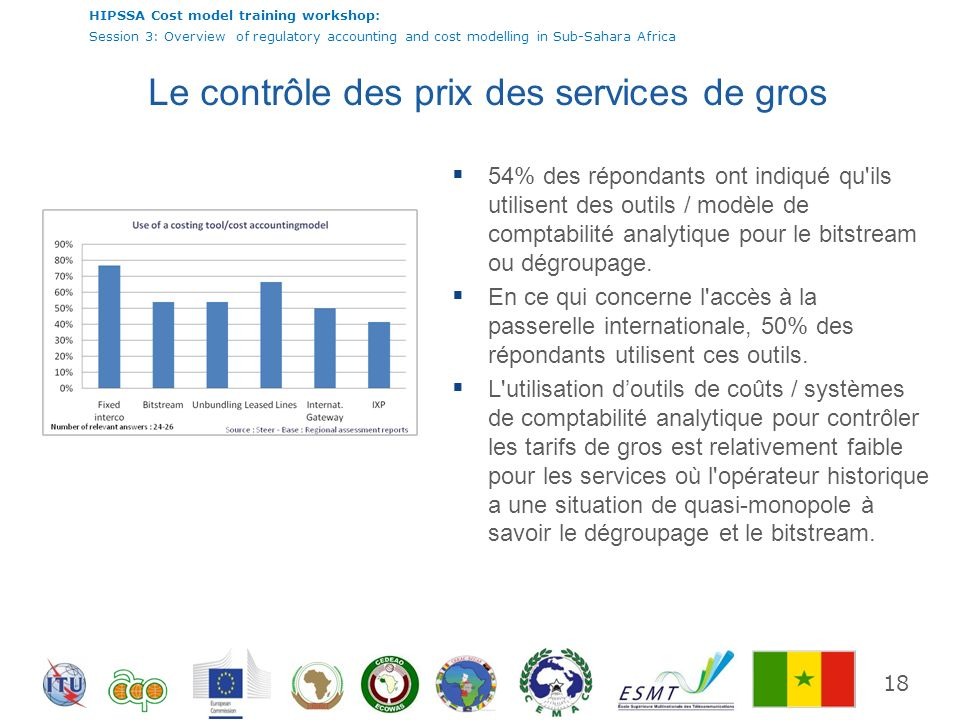HIPSSA Cost model training workshop: Session 3: Overview of regulatory accounting and cost modelling in Sub-Sahara Africa 18 Le contrôle des prix des