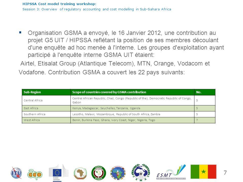 HIPSSA Cost model training workshop: Session 3: Overview of regulatory accounting and cost modelling in Sub-Sahara Africa 18 Le contrôle des prix des services de gros 54% des répondants ont indiqué qu ils utilisent des outils / modèle de comptabilité analytique pour le bitstream ou dégroupage.