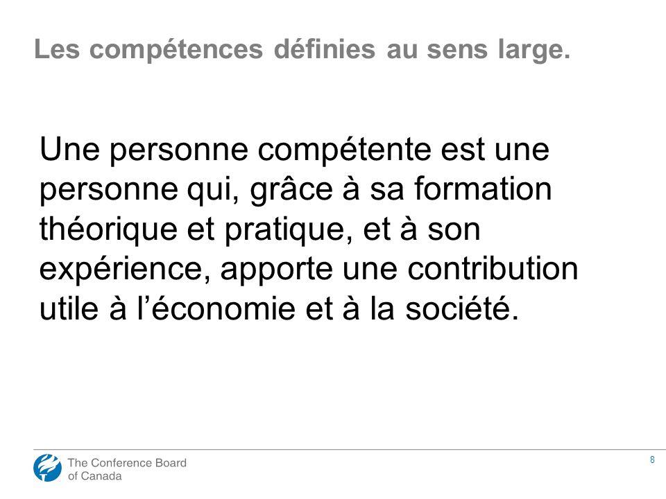 8 Une personne compétente est une personne qui, grâce à sa formation théorique et pratique, et à son expérience, apporte une contribution utile à léco
