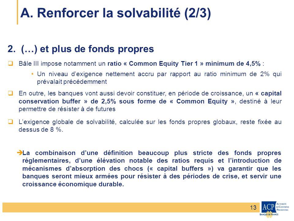 Banque de France – Secrétariat général de la Commission bancaire Banque de France – Autorité de Contrôle Prudentiel 2. (…) et plus de fonds propres Bâ