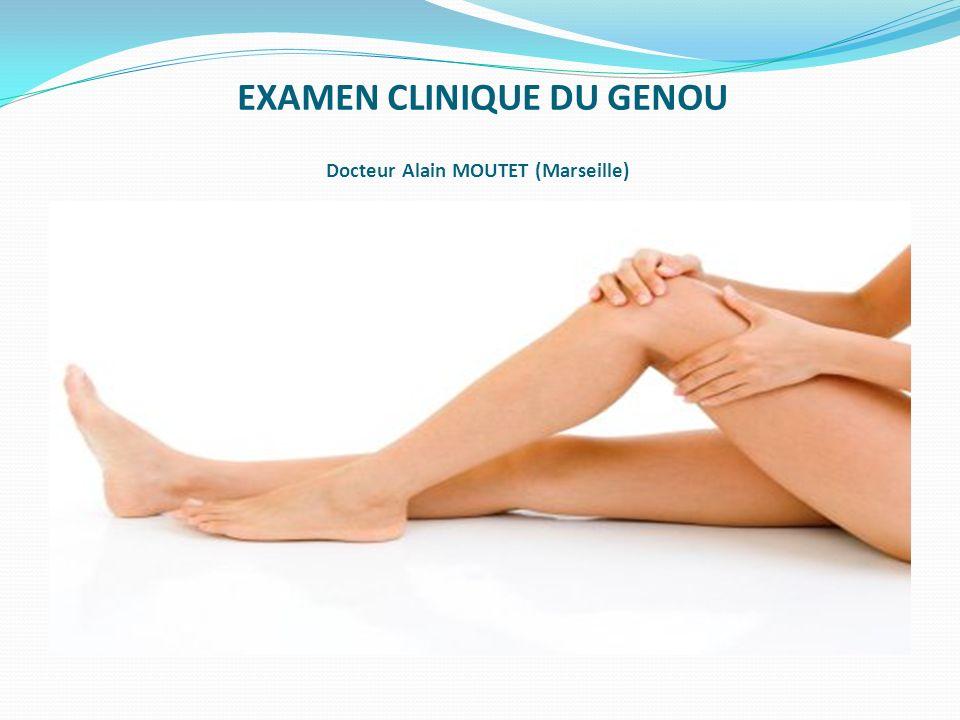 Patient en décubitus ventral genou fléchi à 90°, lexaminateur fait une pression verticale en plaçant le pied en rotation interne et externe.