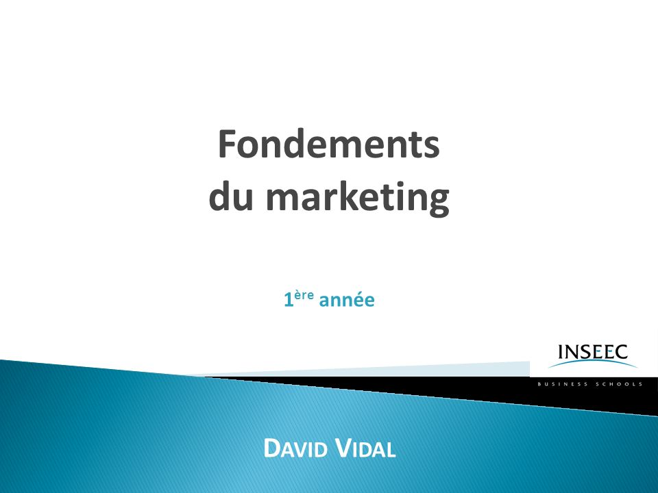 Les concepts de base du marketing