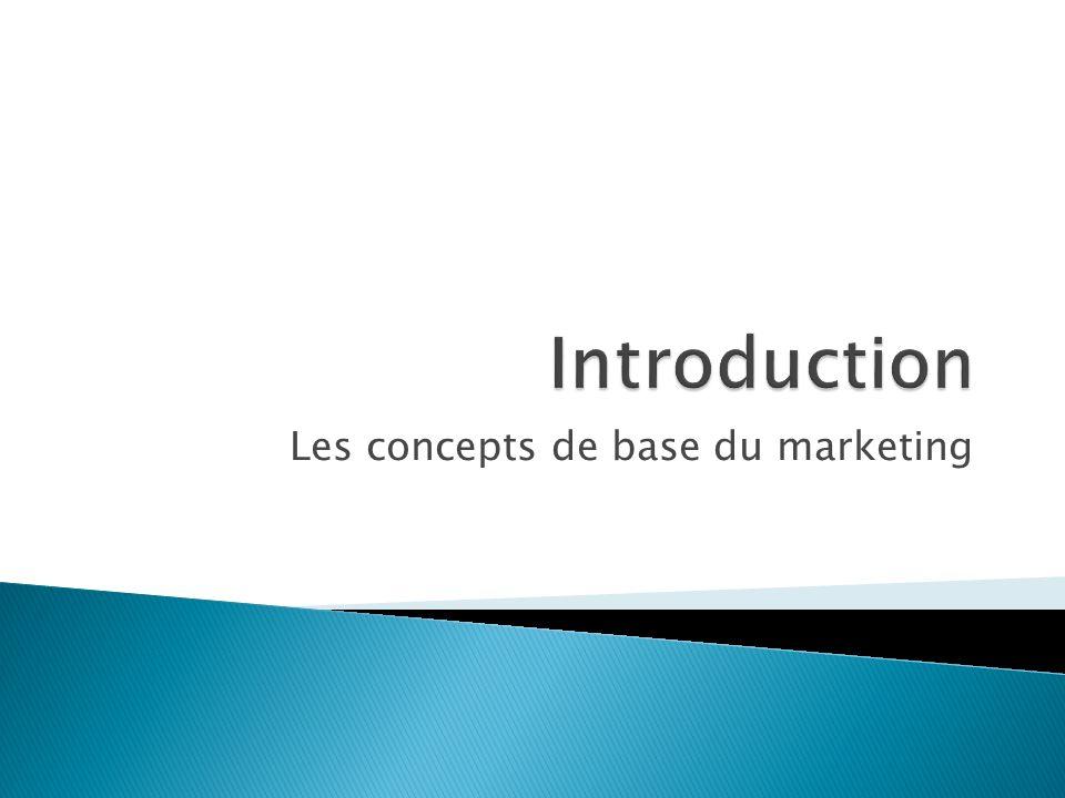 Les concepts de base du marketing