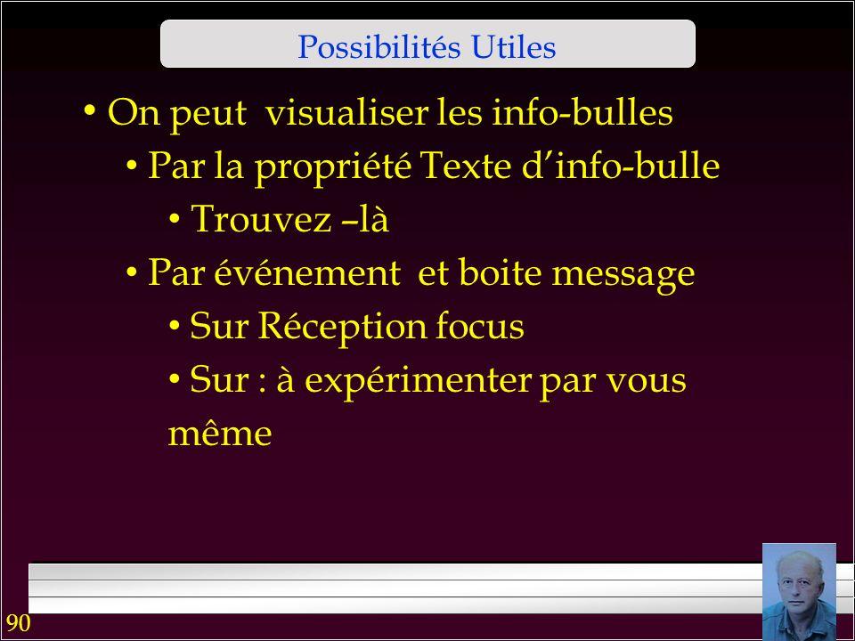 89 Possibilités Utiles